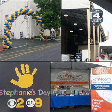 Up bright and early for StephaniesDay ! Cbs Kcal Autismawareness