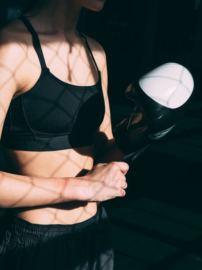 Authentic Box Boxer Close-up Fitness Girl Glove Gym Holding Light Light And Shadow Part Of Person Sport Training Unrecognizable Person VSCO Vscocam Vscogood Woman Workout