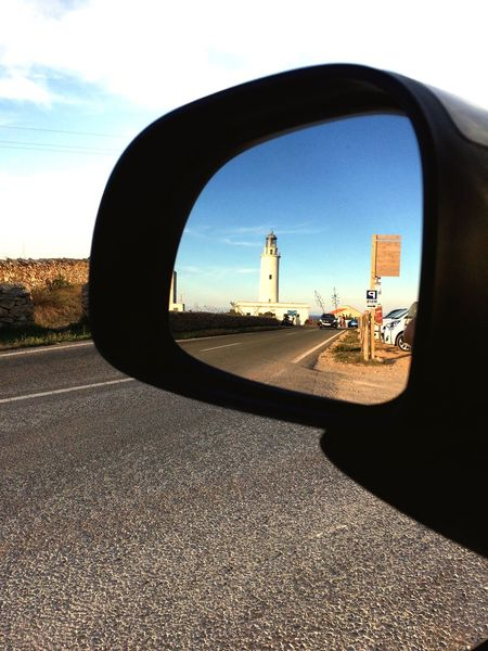 Road Side-view Mirror Car Nature Sky Transportation No People Day Land Vehicle Outdoors Close-up