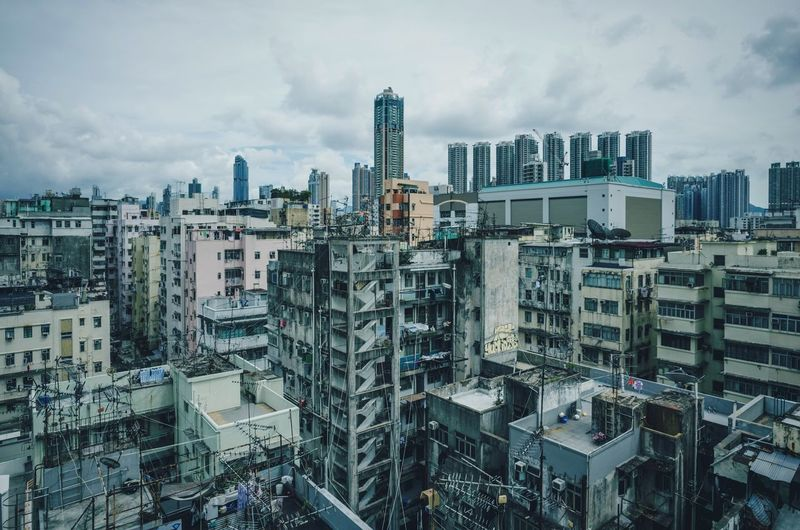 Architecture City Cityscape Sky Cloud - Sky Looking Down Streetphotography Snapshot EyeEmNewHere HongKong Ultrawideangle Ricoh Gr Street Photography
