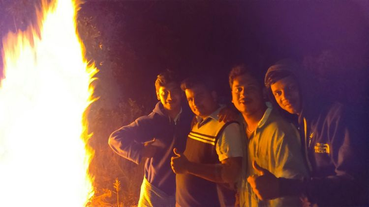 One Wild Night partying Firecamp Dance Late Night Thick Forest Awesome