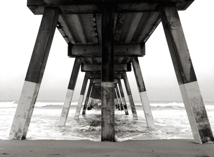 Balancing Act Blackandwhite Johnnie Mercer's Pier Wrightsville Beach North Carolina Ocean Pier IPhone