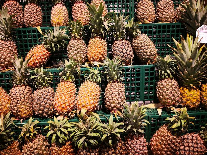 Pineapple Backgrounds Full Frame Plant Close-up