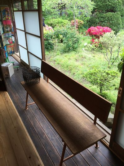Chairs and table by window at home