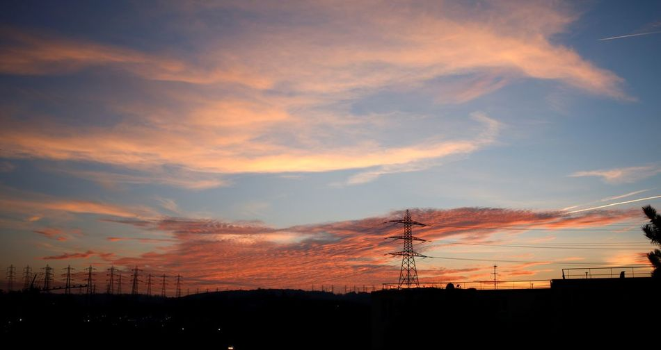 France Beauty In Nature Cable Cloud - Sky Day Euro Europe Nature No People Outdoors Scenics Silhouette Sky Sunset Tree The Week On EyeEm