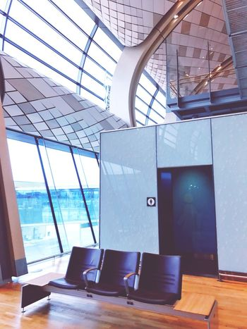 Waiting hall Waiting Area Waiting Chair Airport Indoors  Window Built Structure Architecture No People Modern Colour Your Horizn