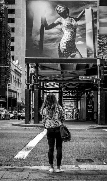 Before After Australia Sydney Street Streetphotography Streetphoto_bw Street Fashion Street Style Fashion Style Urban City People Candid Billboard Woman Xpro2 Fujixpro2 FujifilmXPro2 Xf35mmf2 Fujiusers