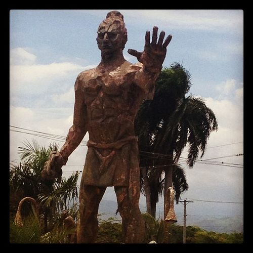 Monument to Caonabo in Sanjuan Dr dominicanrepublic