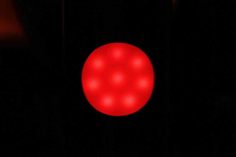 Red No People Red Point Stopp Red Light HJB 8 Round