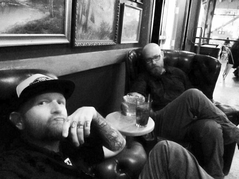 My Drummer and best friend and I hanging before a Social Distortion show Hanging Out Black Ink Breakdown Black Ink Jay Rapp Music Band Bands That's Me Enjoying Life Hanging Out