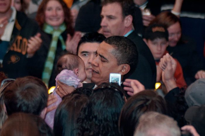 Barack Obama Crowds Obama Obama 2008 Speech Audience Campaign Close-up Courtroom Crowd Day Film Industry Indoors  Medium Group Of People Men People Politics Presidential Campaign Stump Speech Women