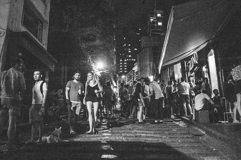 Hanging Out Relaxing Enjoying Life Streetphotography Blackandwhite Light And Shadow HongKong Black & White Monochrome EyeEm China 3:00am HongKong~