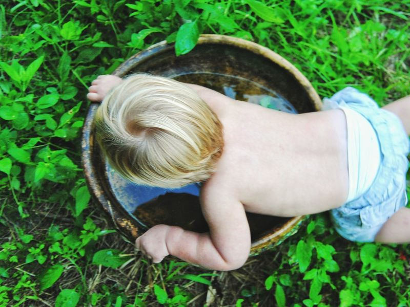 One Person Grass High Angle View Blond Hair Plant Nature Green Color Outdoors Day Pine Island Pine Island, Fl Bokeelia Boy Curiousity Curious Kids The Week On EyeEm