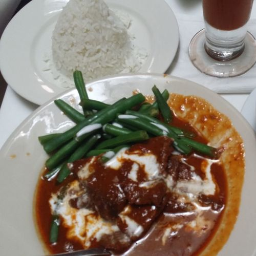 Eat lunch at Spice. Had a great day with a good friend. Spice Thai Restaurant Thai Iced Tea
