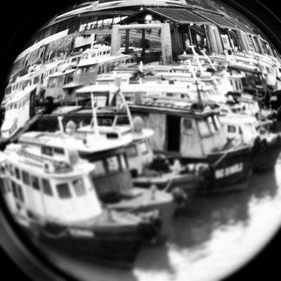 Iphone3gs Changi Singapore Boat Ferry Sea Sunset Puddingcamera Puddingto Instagram Inkwell 🔲🔳Effect Fisheyelens