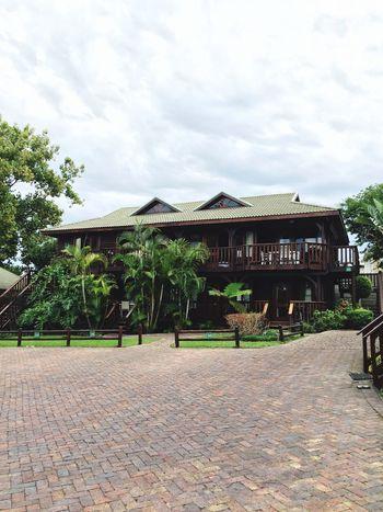 Knysna House Wood Tropical Rain IPhoneography Hanging Out Hello World Relaxing Taking Photos Enjoying Life Banana Tree