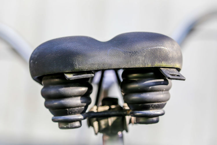 Close-up of bicycle saddle