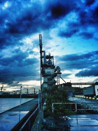 Hamburg Hamburger Hafen Sunset Harbour