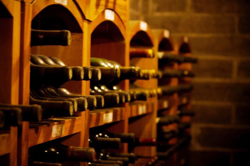 Wine Wine Bottle Bottle Wine Rack Alcohol Indoors  Wine Cellar In A Row Shelf Selective Focus Cellar Food And Drink Large Group Of Objects Drink Winery No People Arrangement Basement Winemaking Close-up VALEDOSVINHEDOS Brasil Riograndedosul Vinícola Winery View