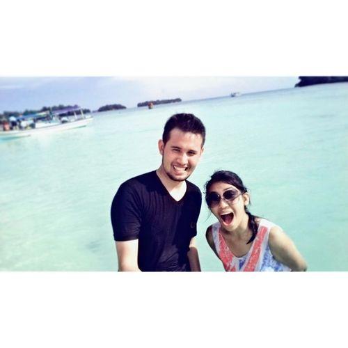 Enjoying The Sun Beach Time Pulau Harapan Happy!
