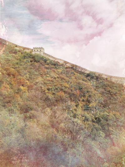 China Shades Of Green  Autumn Colors Great Wall Of China
