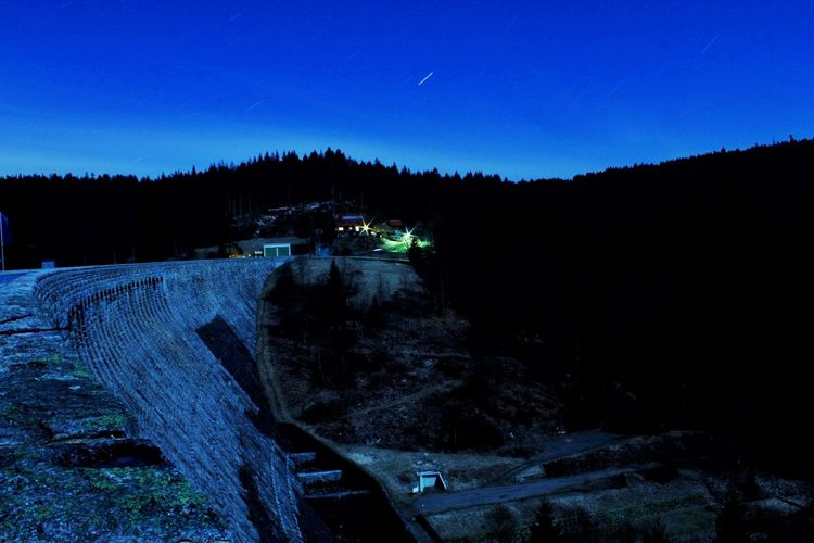 Talsperre Bluesky Sky Moon Moonshine Moonlight Moon Surface Talsperre Schwarzwald Lake Schwarzwaldhochstrasse Night Nightphotography Nightlife Astronomy Tree Agriculture Politics And Government Forest Sky Landscape