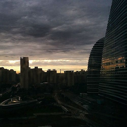 After Rain Cloudy Sunset Building soho wangjing beijing instgood igersbeijing