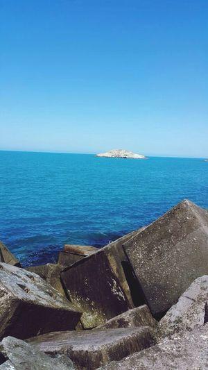 Sea Blue özgürlük Time Huzur Ufuk Tekbaşına Alone