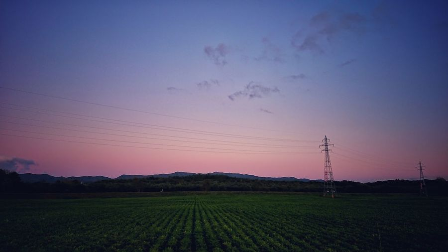 🌙✨ Sunset Agriculture Field Rural Scene Sky Nature Landscape Beauty In Nature Freshness Japanese Photography EyeEmNewHere Hokkaido,Japan Landscape Photography The Week Of Eyeem Black_chica1709 Hokkaido Chica's Sky Skyscape Landscape Naturephotography Naturelandscape Sunsetsky 秋空 鉄塔