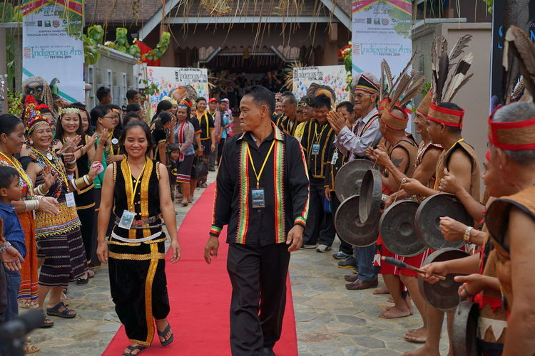 The World Indigenous Day Celebrations 2016 held in Shah Alam, Malaysia on Aug 4-9 2016. Crowd Cultures Day Large Group Of People Leisure Activity Lifestyles Mixed Age Range Native Pride Outdoors Parade Traditional Traditional Clothing Traditional Costume Traditional Culture