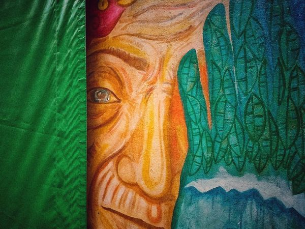 Detrás del velo Multi Colored Peacock Portrait Backgrounds Close-up Green Color Peacock Feather Animal Crest Textured  Crumpled Paper Rough Fabric Textile Tail Bark Feather  Crumpled Cloth Plant Bark Crumpled Paper Ball Fanned Out Animals Mating Rugged Wastepaper Basket