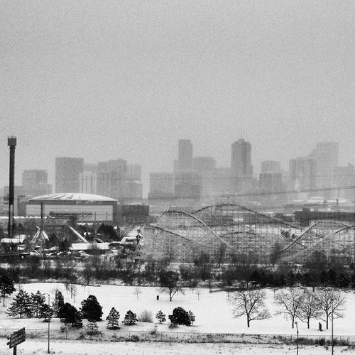 A Foggy Colorado morning in Denver , USA