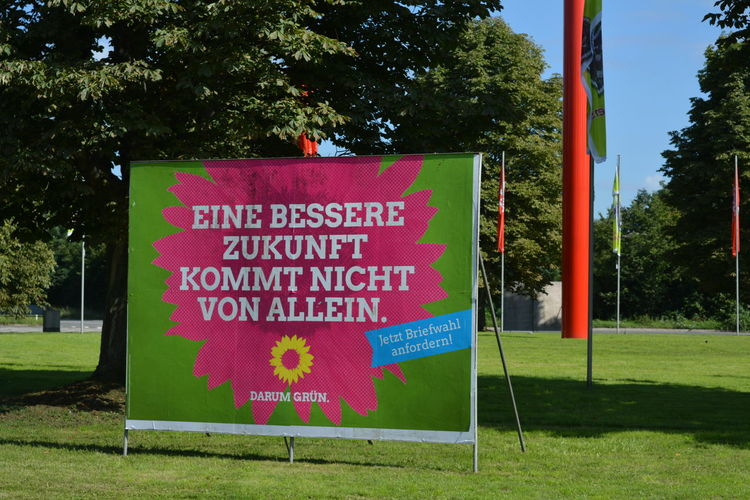 Election Poster Communication Day Election Election Poster Germany Green Color No People Outdoors Text Wahlplakat