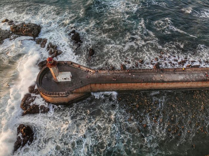 The 'wooden spoon' 🥄 in the Atlantic Ocean Dronephotography Fishermen Waves Rocks And Water Crashing Waves  Atlantic Ocean DJI Mavic Air DJI X Eyeem Water High Angle View Sport No People Day Nature Rusty Outdoors Transportation Mode Of Transportation Sea Metal Abandoned Aquatic Sport Land Nautical Vessel Wet Directly Above Deterioration
