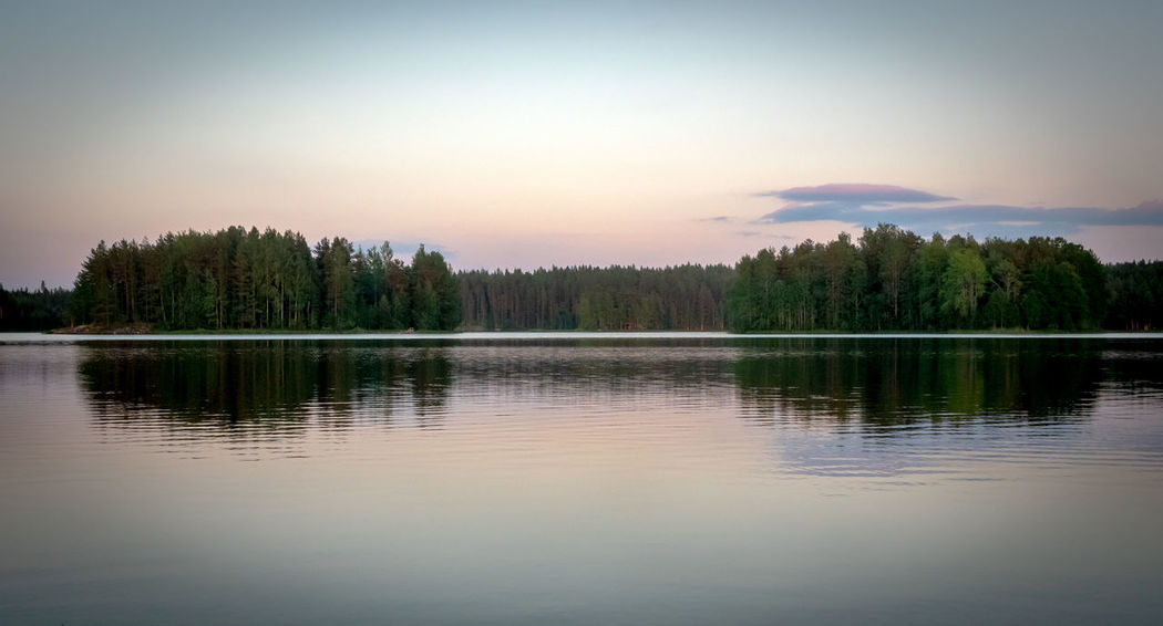 Finland Finnland In Summer Beauty In Nature Idyllic Lake Nature No People Outdoors Reflection Sky Travel Tree Water Waterfront