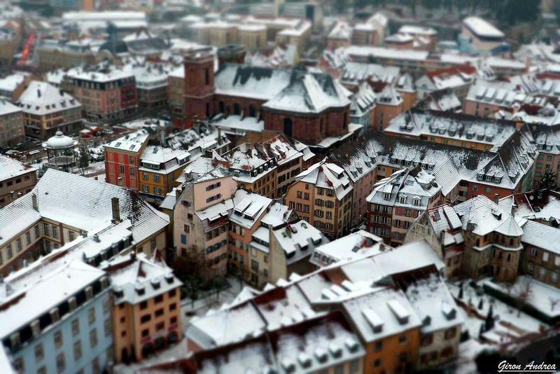 Belfort Citadelle De Belfort Hiver Neige❄ Snow ❄ Blanc Miniature Effet
