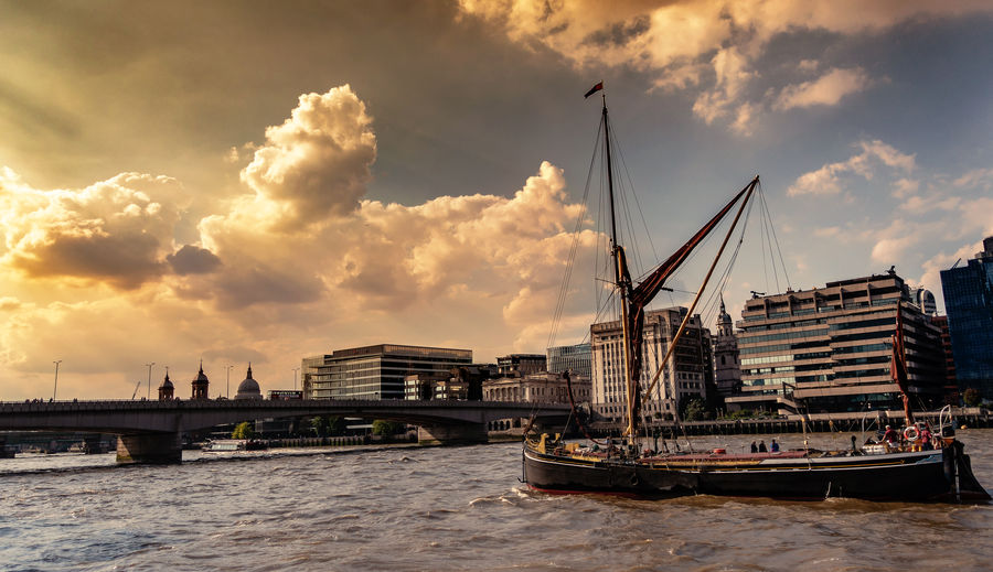 EyeEm EyeEm Best Edits EyeEm Best Shots EyeEm Selects EyeEmBestPics Architecture Bridge Bridge - Man Made Structure City Cityscape Cloud - Sky Clouds Clouds And Sky Nautical Vessel No People Outdoors Passenger Craft Sailboat Sky Sunset Water