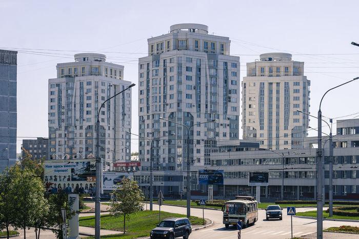 City View  Buildings Roads Intersection Cars Russia Siberia Windows Novokuznetsk Kuzbass