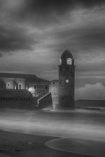 Architecture Beach Blackandwhite Photography Building Exterior Built Structure Castle Cloud - Sky Day History Lighthouse Nature No People Outdoors Sea Sky Tower Travel Destinations Water
