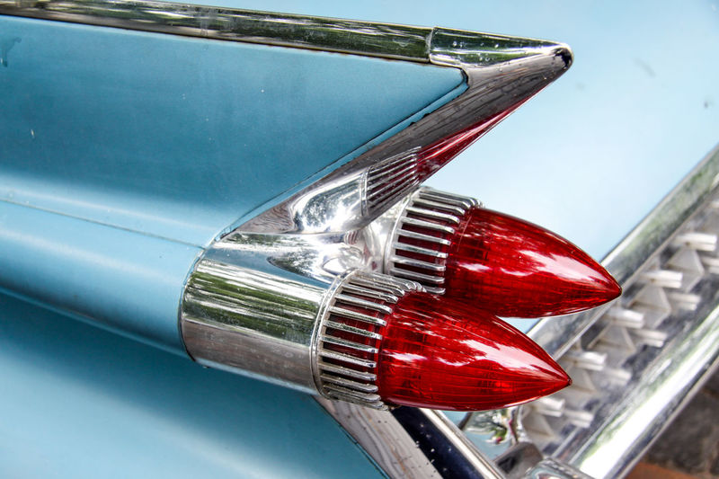 Cropped Image Of Vintage Car With Tail Light