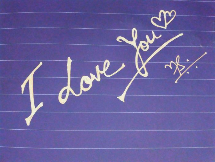 Love you- Calligraphy Calligraffiti Graffiti Art Graffiti Hand Written Poster Love ♥ Love Letters. Love Postcard