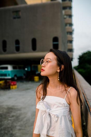 Portrait Of A Woman Portrait Photography portrait of a friend Spectacles Glasses Human Face Close-up Head And Shoulders Singapore Retro Young Women Beautiful Woman Women Portrait Long Hair