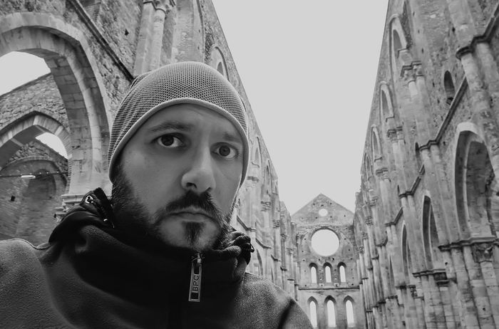 Black And White Friday One Man Only Only Men Adults Only One Person Adult Travel Destinations People Church Scenics Autumn Autunno  Autunno  Medieval Photography Amazing Medioevo Landscape Monastero Monastery Sangalgano Kingarthur