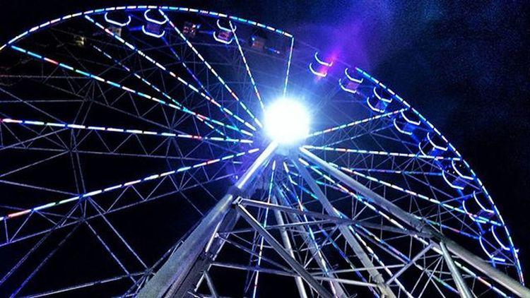 Адлерское колесо обозрения и его ночное небо! воттакаявоттелега Адлер Сочи колесообозрения