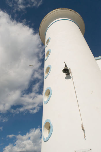 Bell Blue Cloudy Lighthouse Seagull Sky Tall - High Whie The Architect - 2016 EyeEm Awards