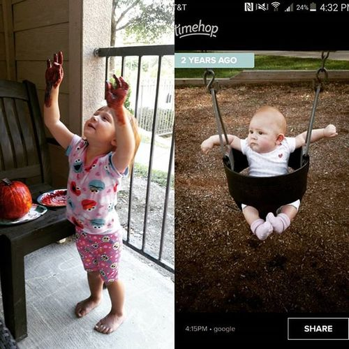 Then and now! Where does time go?!?! I love my big girl. MommysGirl Mylittlered Lovingtexaslife Proudmommy