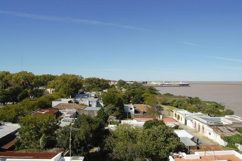 Colonia Del Sacramento City Plata Plate River Rio Plata River Uruguay