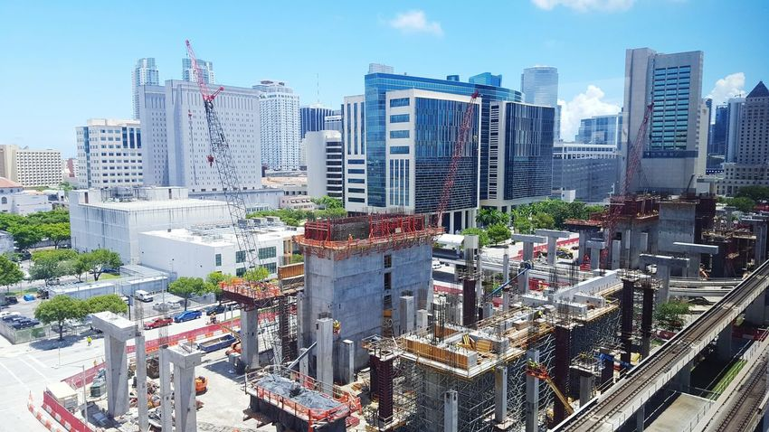 Battle Of The Cities GetbetterwithAlex Miami Downtown Miami City Under Construction Miami, FL Great City Views Fresh On Eyeem