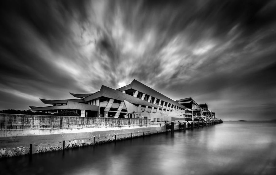 I saw amazing sky above the Pier Architecture Blackandwhite Building Exterior Built Structure Cloud - Sky Huntergol Huntergoln Landscape Long Exposure Marina South Pier Nature Nikon Nisi Nisida No People Outdoors Scenics Sea Singapore Life Sky Travel Destinations Visit Singapore Water Waterfront Your Singapore