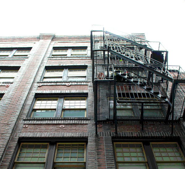 Going Up Brick Architecture Brick Building Emergency Stairs Fire Escape Historic Architecture Old Buildings Pacific Northwest  Seattle Architecture Stairs